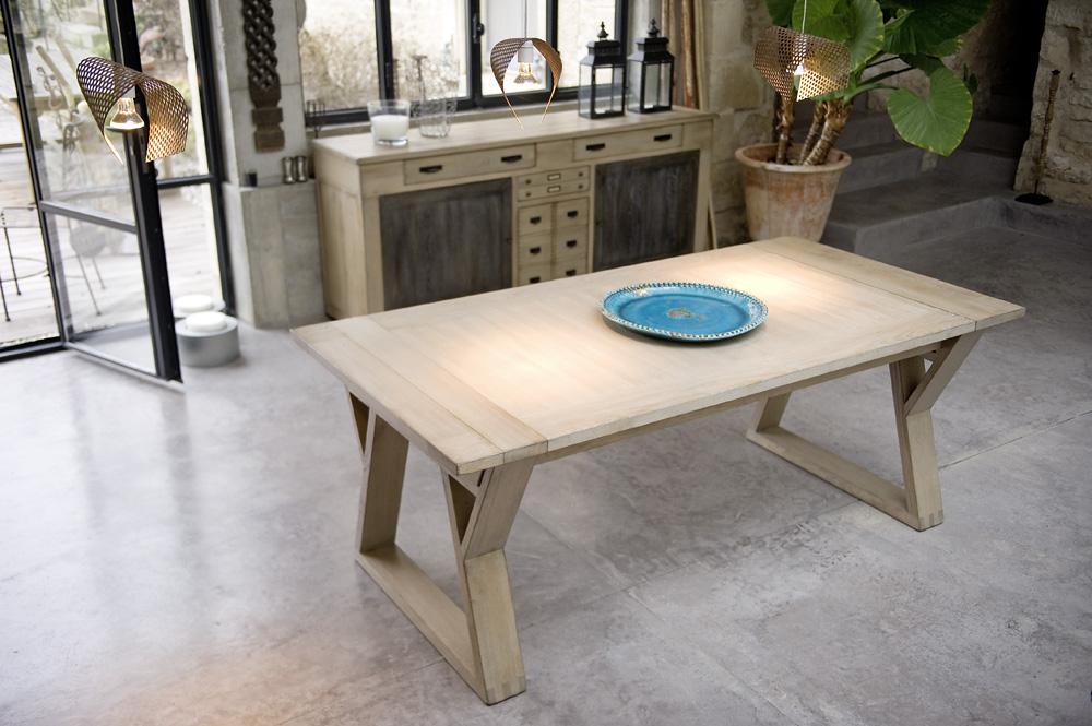 MANU-Table 100% chêne massif