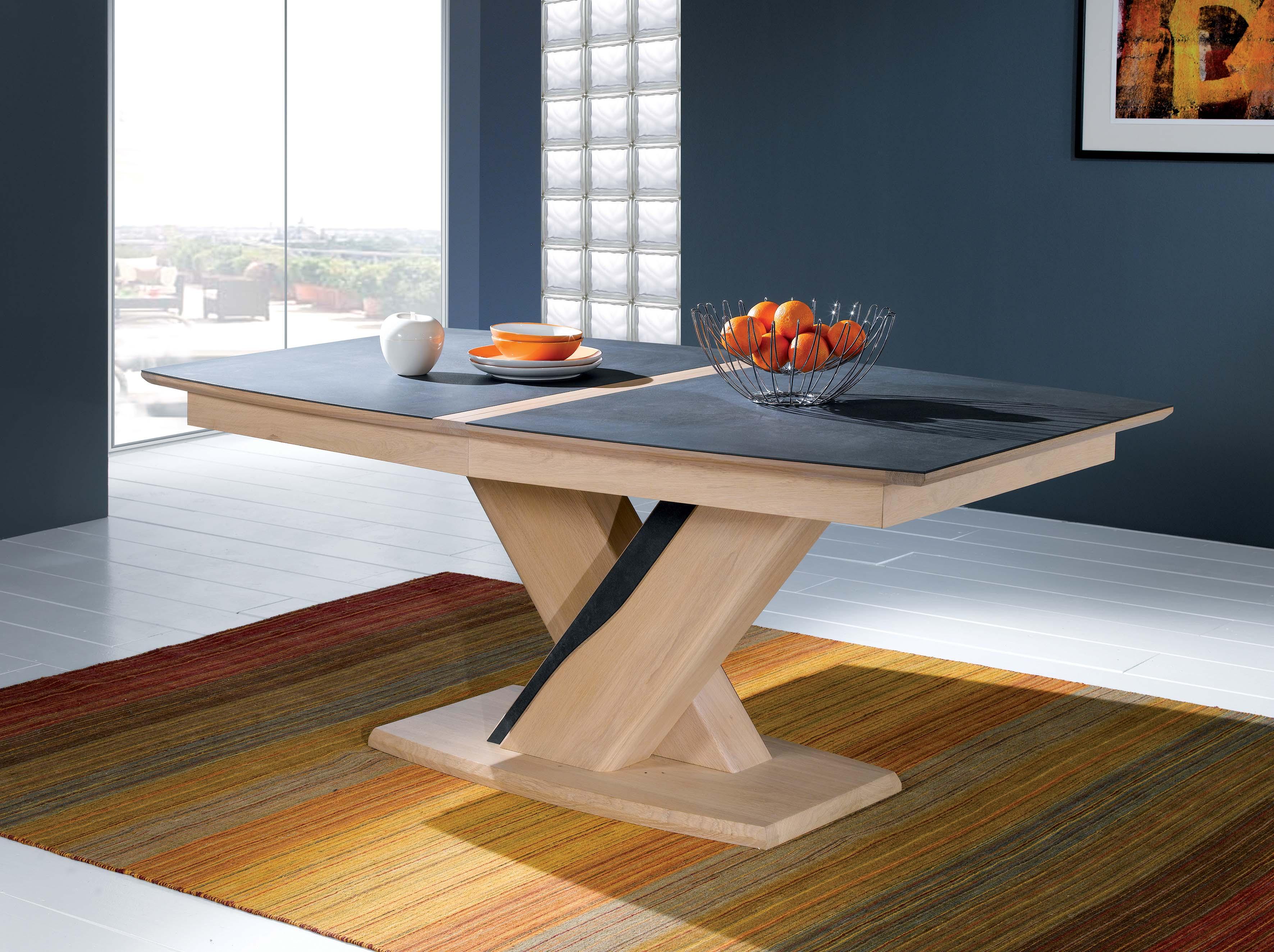 CER-Table tonneau plateau céramique