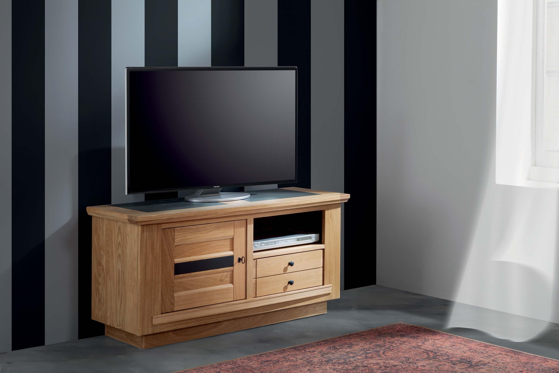 BEL-Meuble TV 1 porte 1 tiroir 1 niche