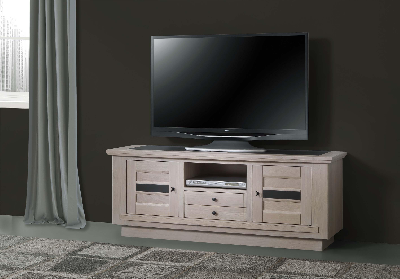 BEL-Meuble TV 2 portes 1 tiroir 1 niche