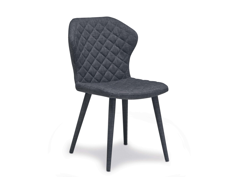 BEL-Chaise tissu gris foncé