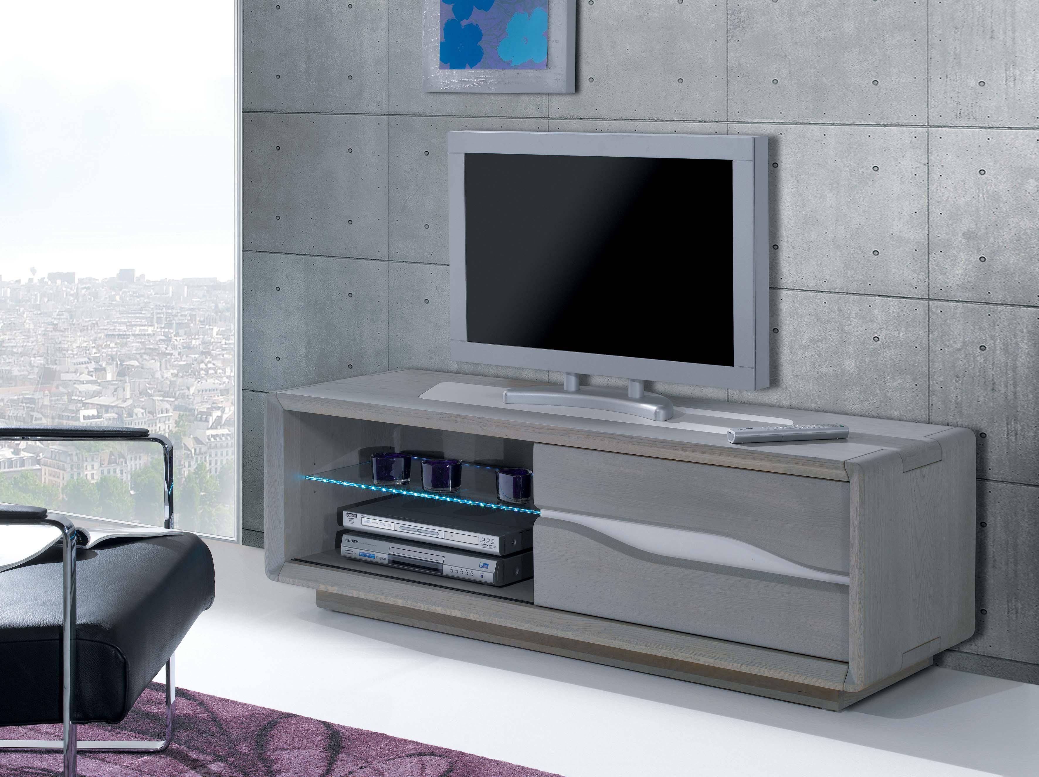 CER-Meuble TV 1 porte coulissante 1 niche