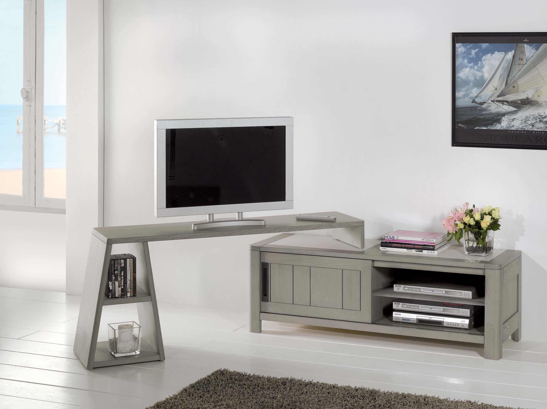 DEAU-Meuble TV 1 porte 1 niche Grand modèle