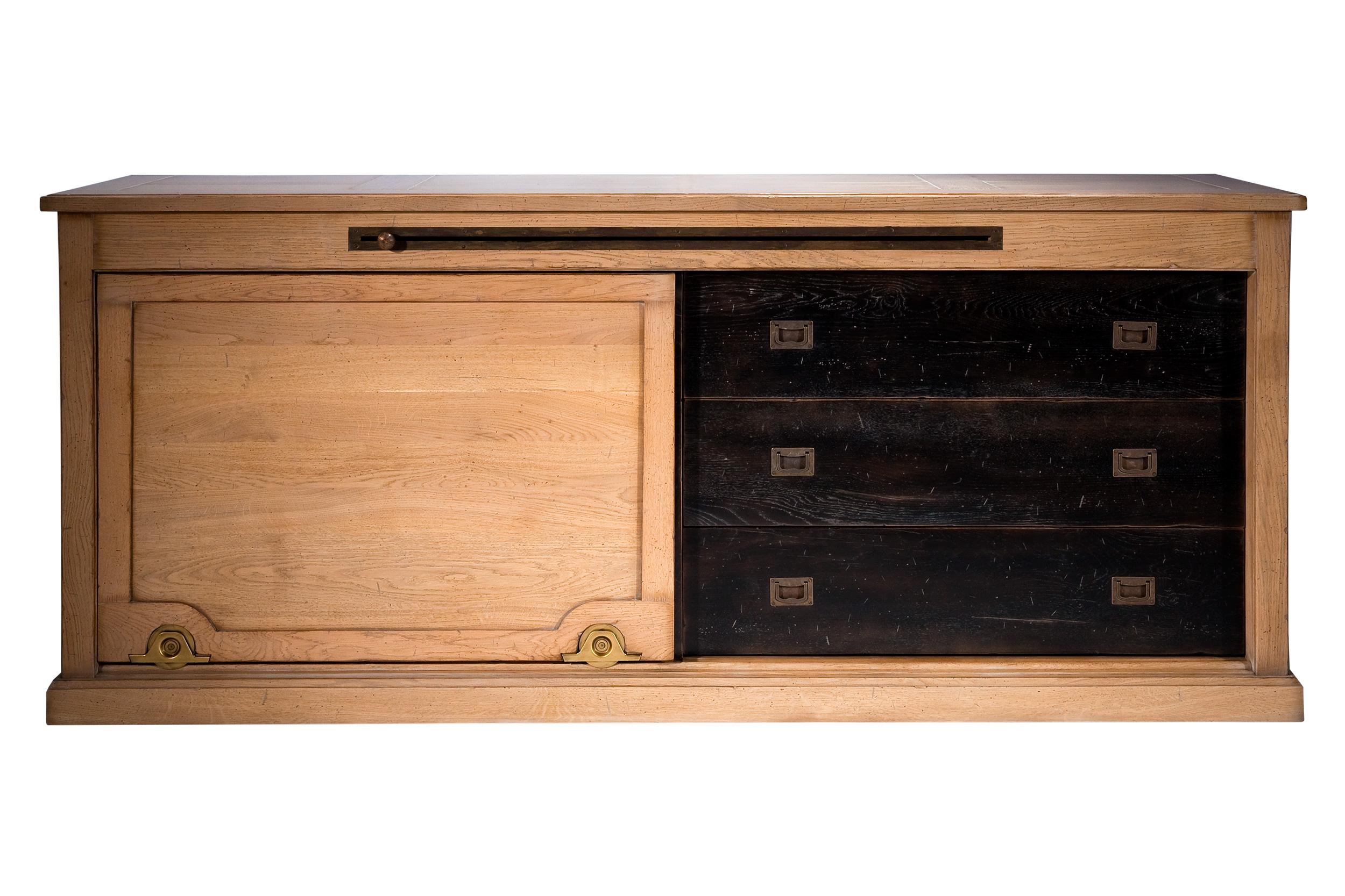 HORL-Enfilade 1 porte 3 tiroirs