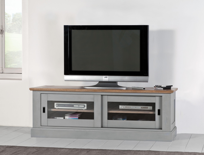 ROM-Grand TV 2 portes coulissantes vitrées