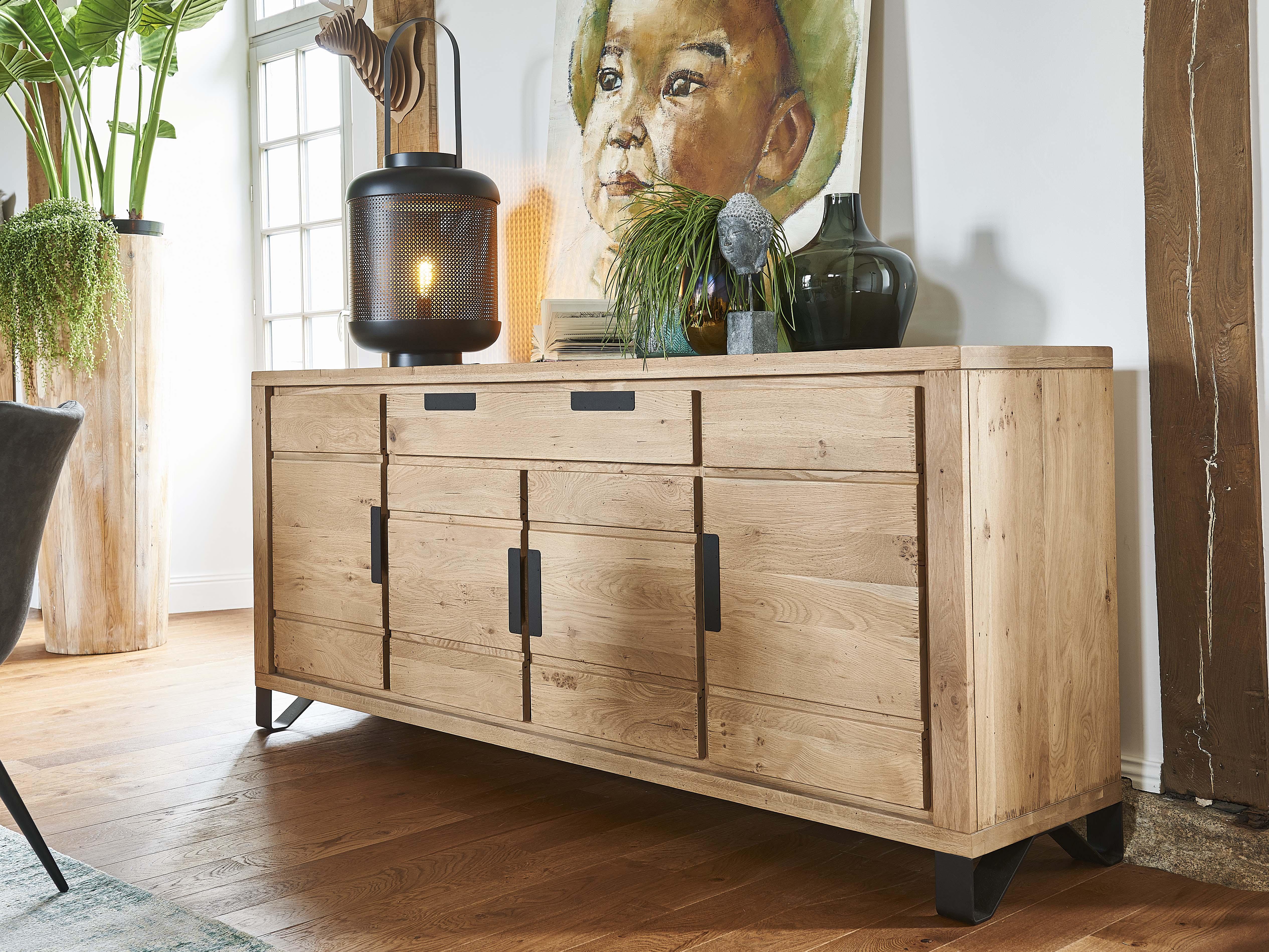 NATURE – Bahut 4 portes 1 tiroir