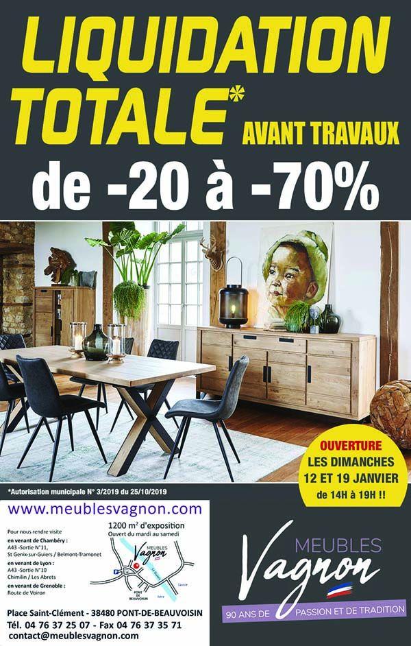 meubles vagnon liquidation totale