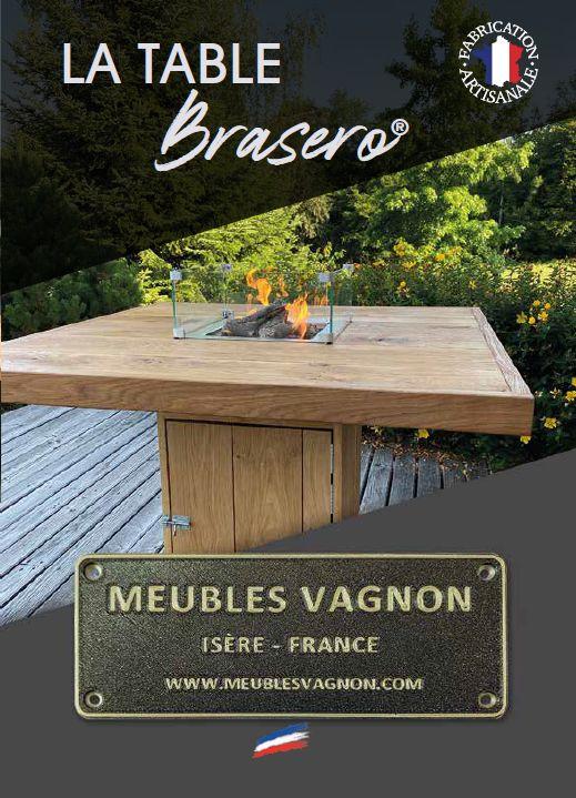 Table Brasero meubles Vagnon